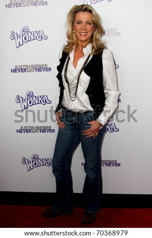 "NEW YORK, NY - FEBRUARY 02: Deborah Norville attends the ""Justin Bieber: Never Say Never"" New York movie premiere at the Regal E-Walk 13 Theater on February 2, 2011 in New York City. - stock photo"