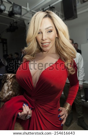 New York, NY - February 18, 2015: Guest attends The Blonds Fashion show as part of New York Fashion Week at Milk studio