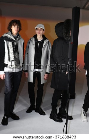NEW YORK, NY - FEBRUARY 01: Models pose at the Plac Presentation during New York Fashion Week Men's Fall/Winter 2016 at Industria Superstudio on February 1, 2016 in New York City.