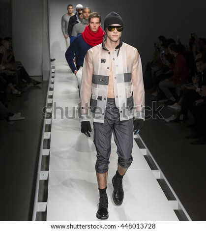 NEW YORK, NY - FEBRUARY 02: Models walk the runway at the Nautica Men's Fall 2016 fashion show during New York Fashion Week Men's
