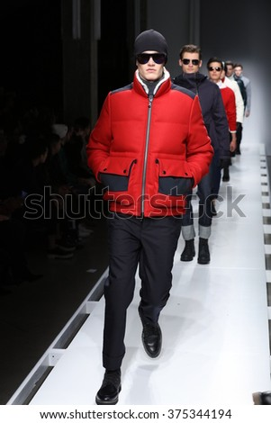 NEW YORK, NY - FEBRUARY 02: Models walk the runway finale at the Nautica Men's Fall 2016 fashion show during New York Fashion Week Men's Fall/Winter 2016 on February 2, 2016 in NYC.
