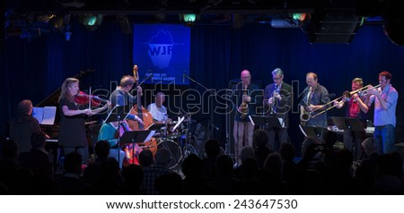 New York, NY - January 09, 2015: Members of ICP Orchestra play at Le Poisson Rouge as part of Winter Jazz Festival in Manhattan
