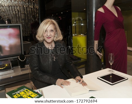 NEW YORK, NY - JANUARY 23, 2014: Writer Celhia de Lavarene attends signing of �¢Un Visa Pour L'Enfer?? by Celhia de Lavarne at Catherine Malandrino flagship store sponsored by Veuve Clicquot