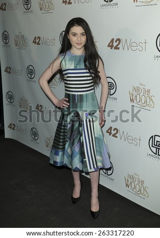 New York, NY - March 22, 2014: Lilla Crawford attends A Musical Tribute to Stephen Sondheim at 42 West featured Into the Woods - stock photo