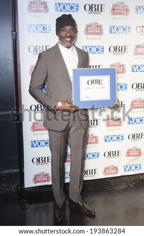 NEW YORK, NY - MAY 19, 2014: Award winner John Earl Jelks attends the 59th Annual Village Voice Obie awards at Webster Hall