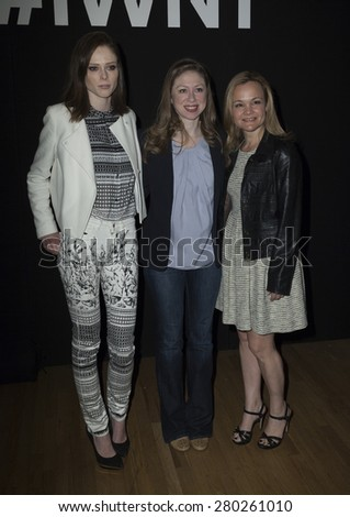 NEW YORK, NY - MAY 21, 2015: Coco Rocha, Chelsea Clinton and Allison Arden attend Internet Week New York 2015 at Metropolitan Pavilion - stock photo