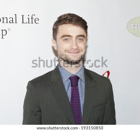 NEW YORK, NY - MAY 16, 2014: Daniel Radcliffe attends the 80th Annual Drama League Awards Ceremony and Luncheon at Marriot Marquis Times Square - stock photo