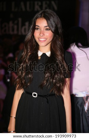 NEW YORK, NY - MAY 19: Madison Beer appears at the Ralph Lauren Fall 14 Children's Fashion Show in Support of Literacy at New York Public Library on May 19, 2014 in New York City.