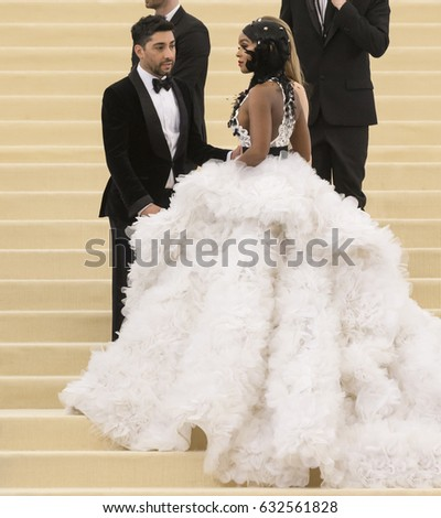 NEW YORK, NY - MAY 01, 2017: Michael Russo and Janelle Monae attend the 'Rei Kawakubo/Comme des Garcons: Art Of The In-Between' Costume Institute Gala at Metropolitan Museum of Art
