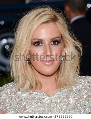 New York, NY  Monday May 04, 2015: Ellie Goulding attends 'China: Through The Looking Glass' Costume Institute Gala, held at the Metropolitan Museum of Art in New York City, New York. - stock photo