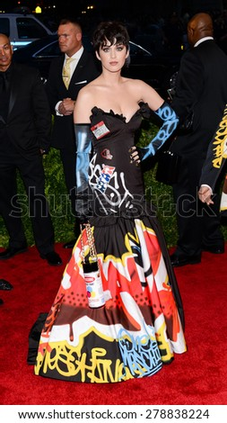 New York, NY  Monday May 04, 2015: Katy Perry attends 'China: Through The Looking Glass' Costume Institute Gala, held at the Metropolitan Museum of Art in New York City, New York. - stock photo