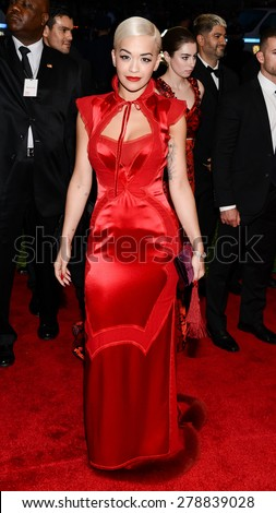 New York, NY  Monday May 04, 2015: Rita Ora attends 'China: Through The Looking Glass' Costume Institute Gala, held at the Metropolitan Museum of Art in New York City, New York. - stock photo