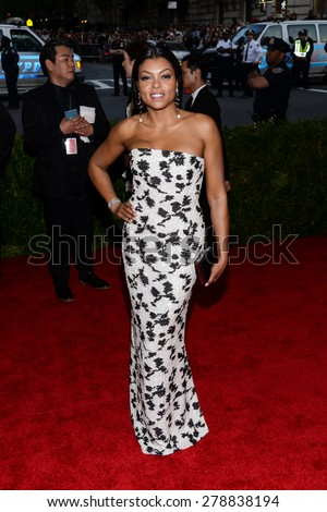 New York, NY  Monday May 04, 2015: Taraji P Henson attends 'China: Through The Looking Glass' Costume Institute Gala, held at the Metropolitan Museum of Art in New York City, New York. - stock photo