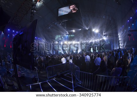 New York, NY - November 12, 2015: Atmosphere during VH1 Big Music In 2015: You Oughta Know concert at the Armory Foundation