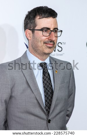 NEW YORK, NY - NOVEMBER 05: Comedian John Oliver attend 2014 Stand Up For Heroes at Madison Square Garden on November 5, 2014 in New York City. - stock photo