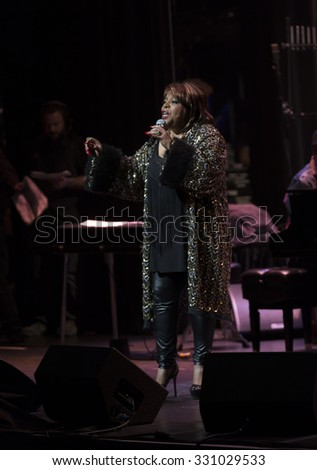 New York, NY - October 22, 2015: Sarah Dash perform during Great NIght in Harlem fundraising concert for Jazz Foundation of America at Apollo theater