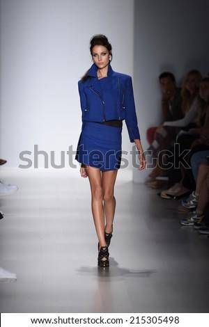 NEW YORK, NY - SEPTEMBER 04: A model walks the runway at the Marissa Webb fashion show during Mercedes-Benz Fashion Week Spring 2015 on September 4, 2014 in New York City.  - stock photo