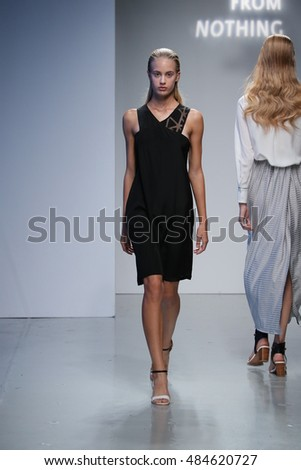 NEW YORK, NY - SEPTEMBER 08: A model walks the runway at the Toutiao X Acfn fashion show during New York Fashion Week on September 8, 2016 in New York City.