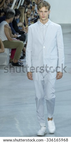 New York, NY - September 12, 2015: Felix Gesnouin walks the runway at Lacoste Spring Summer 2016 fashion show during New York Fashion Week at Spring Studios, 50 Varick Street