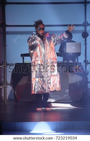 NEW YORK, NY - SEPTEMBER 09: Future performs at the runway at the Philipp Plein fashion show during New York Fashion Week: The Shows at Hammerstein Ballroom on September 9, 2017 in New York City.