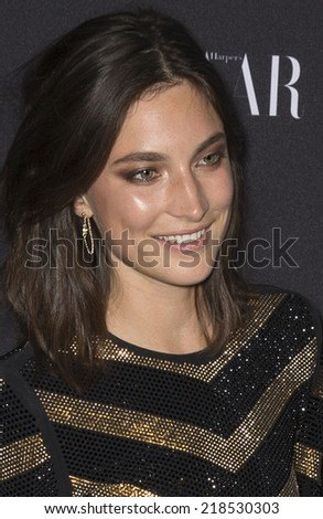 NEW YORK, NY - SEPTEMBER 05 2014: Jacquelyn Jablonski attends the Harper's Bazaar ICONS Celebration at The Plaza Hotel