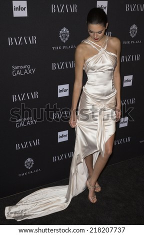 NEW YORK, NY - SEPTEMBER 05 2014: Kendall Jenner attends the Harper's Bazaar ICONS Celebration at The Plaza Hotel