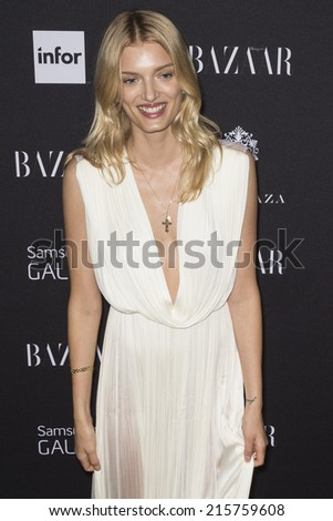 NEW YORK, NY - SEPTEMBER 05 2014: Model Lily Donaldson attends the Harper's Bazaar ICONS Celebration at The Plaza Hotel