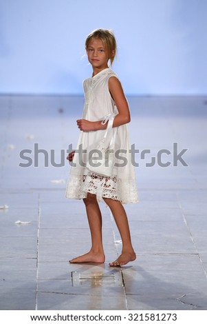 NEW YORK, NY - SEPTEMBER 13: Model walks Wild runway at the FTL Moda Spring 2016 during NYFW at Vanderbilt Hall at Grand Central Terminal, on September 13, 2015 in NYC.