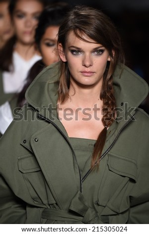 NEW YORK, NY - SEPTEMBER 04: Models walk the runway finale at the Marissa Webb fashion show during Mercedes-Benz Fashion Week Spring 2015 on September 4, 2014 in New York City.  - stock photo