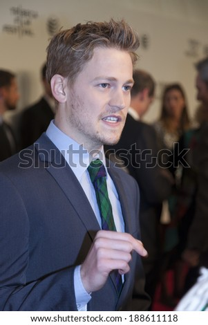 New York, NY, USA - April 21, 2014: Actor Gavin Stenhouse attends Tribeca Talks: After The Movie: 'NOW: In the Wings On A World Stage' during the 2014 Tribeca Film Festival at BMCC Tribeca PAC