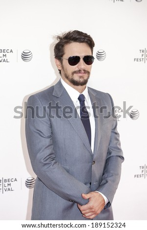 New York, NY, USA - April 24, 2014: Actor James Franco attends the 'Palo Alto' Premiere during the 2014 Tribeca Film Festival at the SVA Theater in New York City