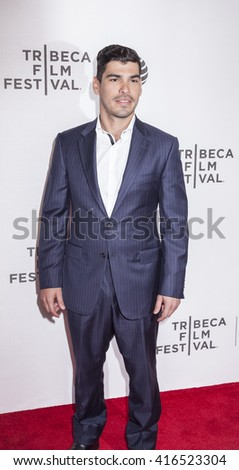 New York, NY, USA - April 22, 2016: Actor Raul Castillo attends the 'Special Correspondents' premiere during the 2016 Tribeca Film Festival at the John Zuccotti Theater at BMCC Tribeca PAC, NYC