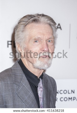 New York, NY, USA - April 20, 2016: Actor Tom Skerritt attends the 'A Hologram For The King' premiere during the 2016 Tribeca Film Festival at the John Zuccotti Theater at BMCC Tribeca PAC - stock photo