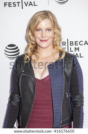 New York, NY, USA - April 19, 2016: Actress Anna Gunn attends Tribeca Talks After the Movie: 'Equity' during  the 2016 Tribeca Film Festival at SVA Theatre, Manhattan - stock photo