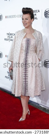 New York, NY, USA - April 25, 2015:  Actress Debi Mazar attends 2015 Tribeca Film Festival closing night, 25th anniversary of Goodfellas, co-sponsored by Infor and Roberto Coin at Beacon Theatre