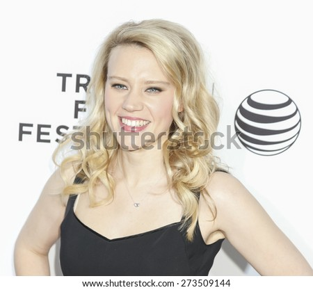 New York, NY, USA - April 15, 2015: Actress Kate McKinnon attends the world premiere of 'Live From New York' during the 2015 Tribeca Film Festival at The Beacon Theatre, Manhattan - stock photo