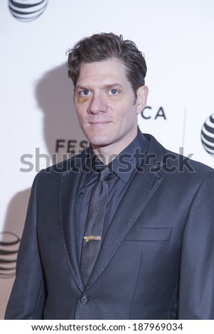 New York, NY, USA - April 18, 2014: Director Adam Rapp attends the 2014 Tribeca Film Festival Word Premiere Narrative: 'Loitering With Intent' at BMCC/Tribeca PAC, Manhattan