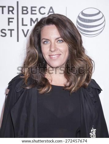 New York, NY, USA - April 23, 2015: Director Claudia Llosa attends 2015 New York Tribeca Film Festival  Premiere Narrative Aloft at BMCC Tribeca PAC, Manhattan - stock photo