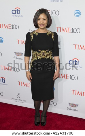 New York, NY USA - April 26, 2016: Guo Pei attends Time 100 gala at Jazz at Lincoln Center - stock photo