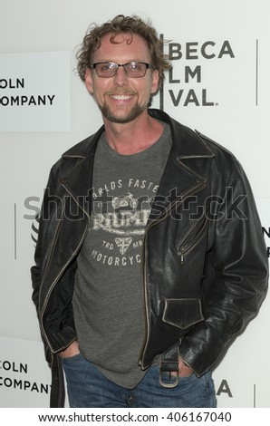 New York, NY USA - April 14, 2016: Jayson Warner Smith attends premiere of The Devil and the Deep Blue Sea during Tribeca film festival at BMCC - stock photo