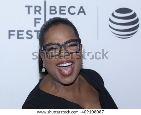 New York, NY USA - April 20, 2016: Oprah Winfrey attends premiere of Greenleaf series during Tribeca Film Festival at BMCC