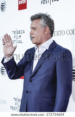 New York, NY, USA - April 25, 2015: Ray Liotta attends the Tribeca Film Festival closing night, 25th anniversary of Goodfellas, during the 2015 Tribeca Film Festival at Beacon Theatre, Manhattan