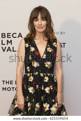 New York, NY USA - April 21, 2017: Rosemary Dewitt wearing Alice & Olivia by Stacey Bendet attends premiere of Sweet Virginia during 2017 Tribeca Film Festival at Cinepolis Chelsea