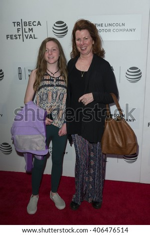 New York, NY USA - April 15, 2016: Siobhan Fallon (R) attends premiere All we had movie at Tribeca film festival at BMCC