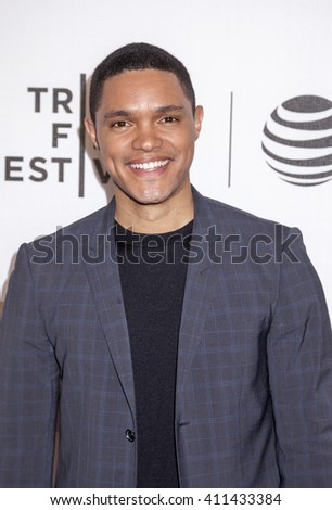 New York, NY, USA - April 20, 2016: Television, radio host Trevor Noah attends 'A Hologram For The King' premiere during the 2016 Tribeca Film Festival at the John Zuccotti Theater at BMCC Tribeca PAC