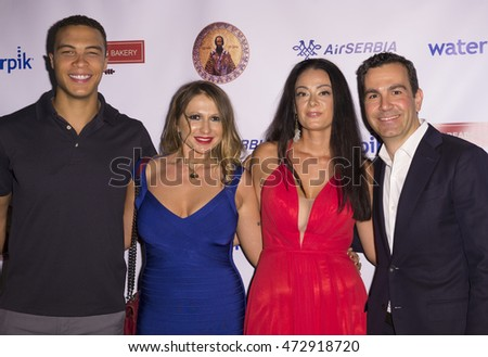 New York, NY USA - August 22, 2016: Dale Moss, Mirjana Sladic, Tijana Ibrahimovic, Mark Jovanovic attend the Save Saint Sava Benefit at the New York Athletic Club