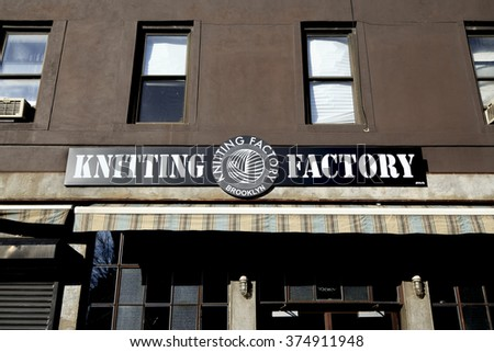 NEW YORK,NY, USA - January 31, 2015: Knitting Factory: famous live house in Williamsburg in Brooklyn.