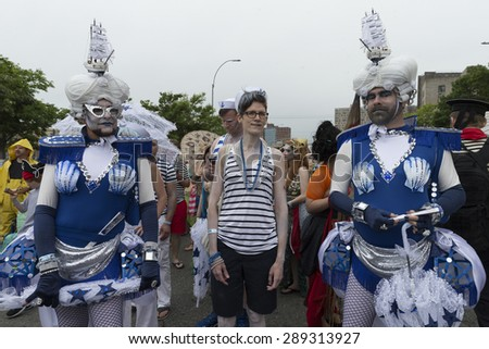 New York, NY USA - June 20, 2015: Atmosphere on 33rd Mermaid parade on Coney Island in Brooklyn