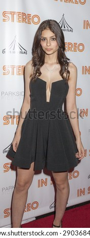 New York, NY, USA - June 24, 2015: Wilhelmina Fitness Model Elizabeth Pipko attends the New York premiere of 'In Stereo' at Tribeca Grand Hotel, Manhattan