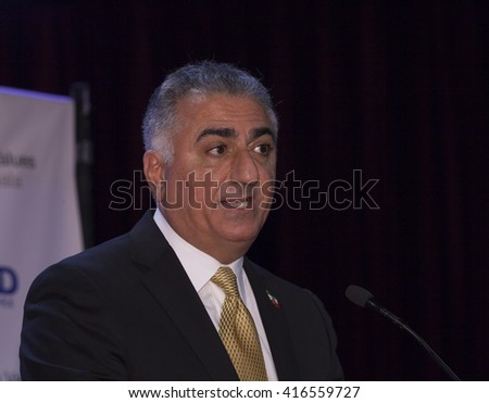 New York, NY USA - May 5, 2016: Crown Prince of Iran, Reza Pahlavi attends 4th annual champions of Jewish values international awards gala at Marriott Marquis Times Square